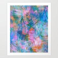 Waikiki Tropic {Aqua} Art Print