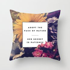 The Pace Of Nature Throw Pillow