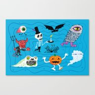Canvas Print featuring The Halloween Parade by Oliver Lake
