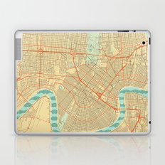 New Orleans Map Retro Laptop & iPad Skin