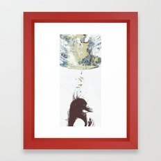 Between the Gravity and the Sunshine Framed Art Print