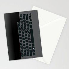 Brushed Metal Keyboard Stationery Cards
