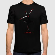 Dance With Death  Black SMALL Mens Fitted Tee