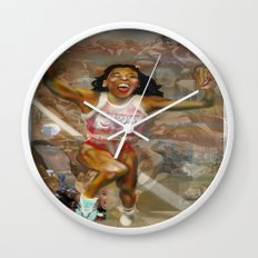 AMERICA ON HER BACK Wall Clock