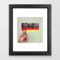 Office Patriotism Framed Art Print