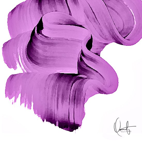 Radiant Orchid Abstract  Art Print