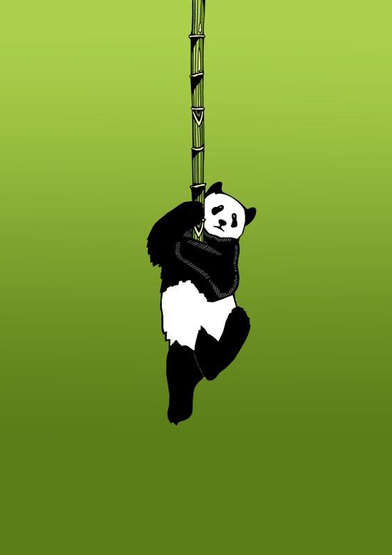 Save the Panda Art Print