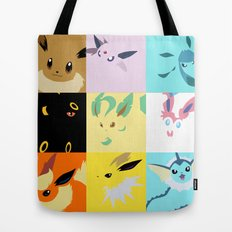Eevee evolutions square- Eeeveelutions PKMN Tote Bag