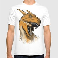 Charisaurus Rex Mens Fitted Tee White SMALL