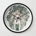 keyhole in the jungle Wall Clock
