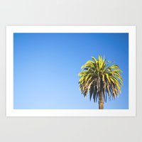 California Palm Tree Art Print