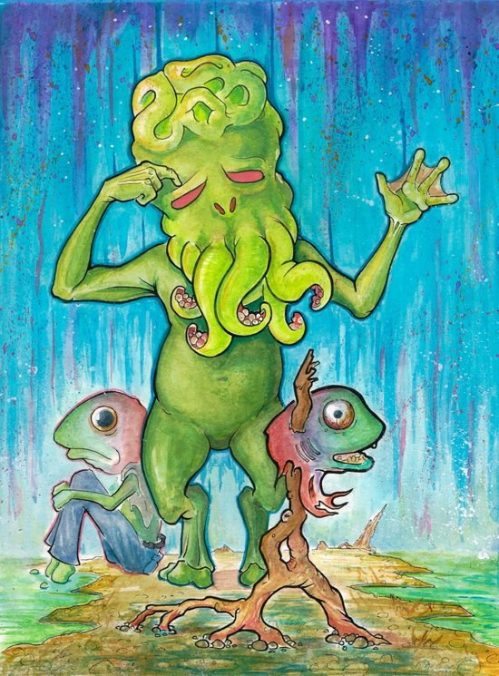 Cthulhu Has A Cousin Who's Quite Similar Art Print