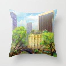 Gapstow Bridge Throw Pillow