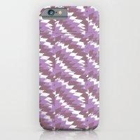 Purple Pattern Print iPhone 6 Slim Case