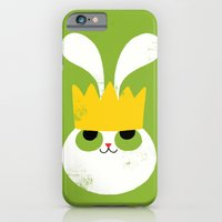 iPhone & iPod Case featuring Rabbit King by Monster Riot