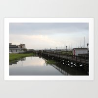 Dock/Water/South Carolina/Charleston Art Print