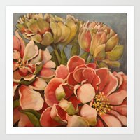 Peonies in Pink Art Print