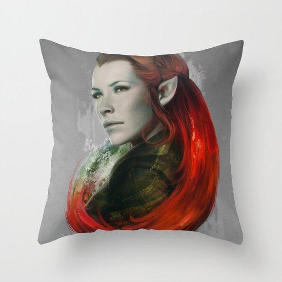 Head of Elven Throw Pillow