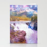 Waterfall and Mountain Stationery Cards