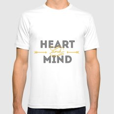 Heart and mind SMALL Mens Fitted Tee White