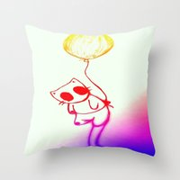 Balloon Animal (color) Throw Pillow