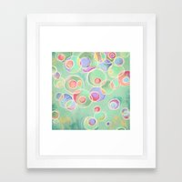 Iridescent Bubbles - Pastel Abstract Painting  Framed Art Print