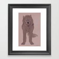 Snarling Wolf Framed Art Print