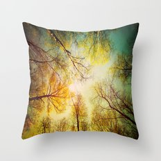 Rest in the forest Throw Pillow