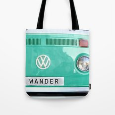 Wander wolkswagen. Summer dreams. Green Tote Bag
