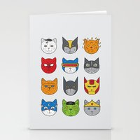 Super Cats Stationery Cards