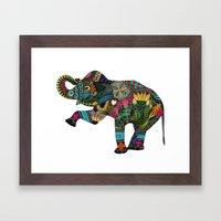 Asian Elephant White Framed Art Print