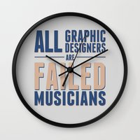 Failed musicians Wall Clock