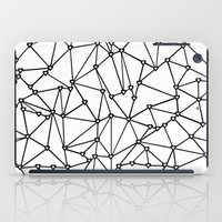Abstract Heart Black on White iPad Case