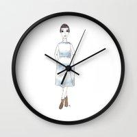 girl in a dress Wall Clock