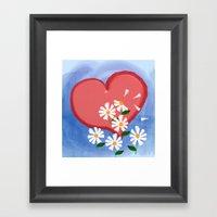 Loves me, loves me not Framed Art Print