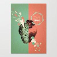 Make Your Choice 1 Canvas Print