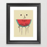 Summer smile Framed Art Print
