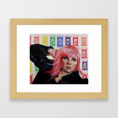 Lady Pop Framed Art Print