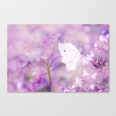Butterfly :: White Violet Canvas Print