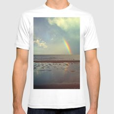 Rainbow Over Sea Mens Fitted Tee White SMALL