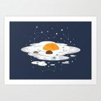 Egg Dimension Art Print