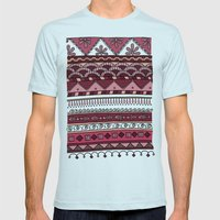 Yzor pattern 004 lilac Mens Fitted Tee Light Blue SMALL