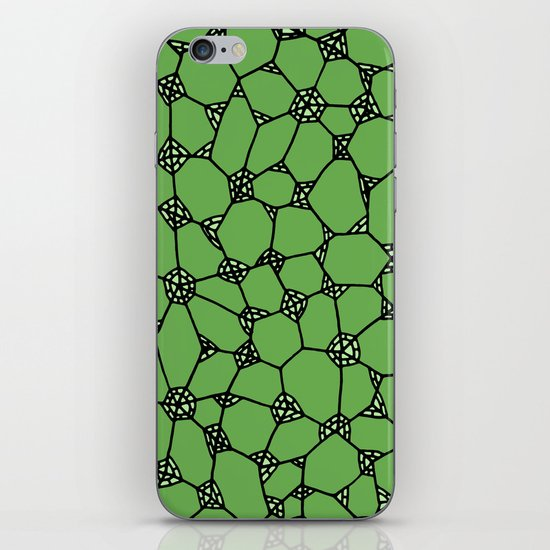Yzor pattern 006-4 kitai green iPhone & iPod Skin