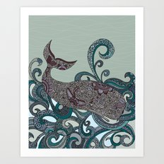 Deep Blue Me Art Print