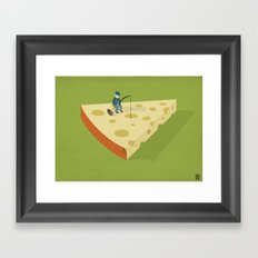 Slice fishing Framed Art Print