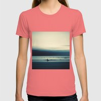 Summer Tale Womens Fitted Tee Pomegranate SMALL
