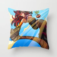Pirate!! Throw Pillow