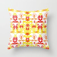 YELLOW RED Throw Pillow