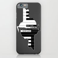 iPhone & iPod Case featuring New York Never Sleeps by AWOwens