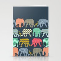 Baby Elephants And Flami… Stationery Cards